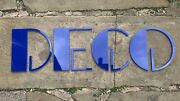 Art Deco Sign 5mm Salvaged Perspex Blue Deco Signage Supplied With Dst On Rear