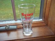 Rarest Post Prohibition Glass By Walters Beer Eau Claire Wisconsin Wi. Bar
