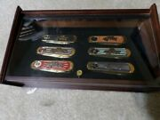 Classic Ford Pick-up Truck Franklin Mint Pocket Knife Set With Display Case