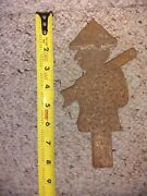 Antique Asian Soldier Cast Iron Shooting Gallery Carnival Target Game Hard 2 Fnd