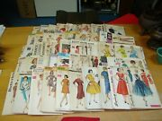 Lot Of 50 Simplicity Mccalland039s Butterick Advance Sew Easy Sewing Patterns