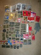 Large Us Army Patch Pins Ribbons Lot Airborne Sof