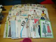 Vintage Lot 50 Simplicity Mccall's Butterick Advance And More Patterns