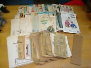 Vintage Large Lot Simplicity Mccall's Butterick Advance And Extras Patterns