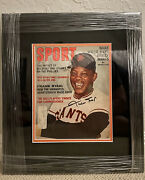 Willie Mays Signed Vintage Sport Magazine 1960s Autographed Auto Framed Giants
