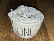 Rae Dunn Ll White Ceramic Measuring Cups With Black Letters Brand New