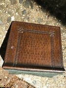 Antique Single Hammered Usa Copper Roycroft Arts Crafts Mission Bookend