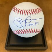 Tony Gwynn Andldquo.394 94andrdquo Signed Autographed Official League Baseball Padres