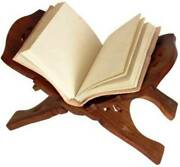 Book Stand ,15inches Decorative Wooden Box Geeta Ramayan Bible Holy Books Stand