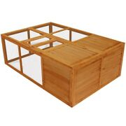 Outdoor Foldable Wooden Animal Cage For Rabbits Chickens 59 X 39 X 20