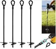 """20"""" Ground Anchors Pcs Easy To Use With Drill, 10mm Diameter, Heavy Duty 4"""