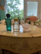 Vintage Perfume Fragrance Bottles Lot Of 3 Glass Collectibles