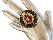 2009 Black/red Paris - Moscou Enamelled Brooch Rare In Pochette