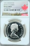 1971 Canada Silver 1 Dollar S1 Ngc Sp 66 Cameo Scarce Frosty White Coin