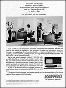 1983 Kaypro Ii Personal Computer Office Work Chaos Retro Photo Print Ad Ads21