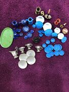 Large Lot Of German Dollhouse Pewter And Other Metal Pieces