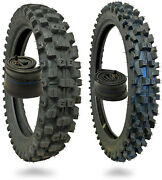 Wig Racing 120/80-19 And 90/90-21 Tire And Heavy Duty Inner Tube Combo