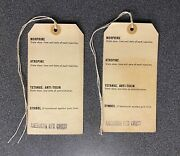 Ww2 U.s.army Casualty Labels 1944 X2 Normandy Invasion American Red Cross.omaha