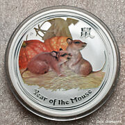 2008 - Year Of The Mouse', 2oz .999 Silver Coin Bu