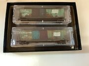 """Micro Trains 993 05 840 N Scale Penn Central"""" Weathered Box Car 2 Pack"""