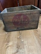 Very Rare Vintage Tru Ade Fruit Beverage Wood Soda Pop Crate Dovetail Troy Ny