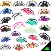 36pcs Acrylic/stainless Taper Stretching Kit Ear Gauges Tunnels Plugs Expander