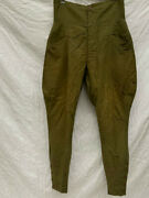 Military Antique Riding Jodhpurs Pants Olive Green Vintage From Japan