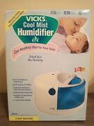 @vicks Natural Cool Mist Humidifier Child Nusery White And Blue Quiet Brand New@