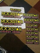 11 Authentic Rockstar Energy Drink Stickers Decal Sign Logo