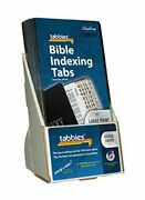 Tabbies 20 Pack With Display Large Print Silver-edged Bible Indexing Tabs Old...