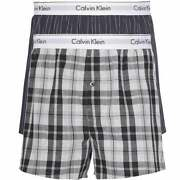 Modern Cotton Slim Fit Woven Boxer 2-pack Ryan Stripe D Well/hickory Plaid B