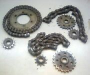 1994 Polaris 400 L 4x4 All Chains And Sprockets Front Rear Center Middle Back 520
