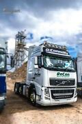 To Fit 13+ Volvo Fh4 Globetrotter Standard Roof Bar+jumbo Led Spots+led+beacon
