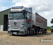 To Fit 19+ Mercedes Actros Mp5 Streamspace Roof Bar+led Spots X6+clear Beacon X2