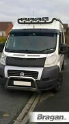To Fit Fiat Ducato 2014+ Black Stainless Steel Roof Bar+leds+jumbo Led Spots