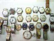 Timex Windup Vintage Watches And Pocket Watch Many Running For Restoration