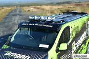 To Fit Ford Transit Tourneo Connect 02 - 14 Roof Bar Black+leds+jumbo Led Spots