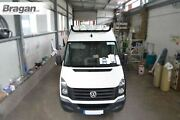 To Fit Volkswagen Crafter 06 - 14 Black Stainless Roof Bar+leds+jumbo Led Spots
