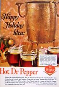Hot And039dr. Pepperand039 1966 Drinks Advert Print - Original Ad Ideal To Frame