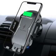 Car Wireless Charger Mount Air Vent Holder Fast Charge Cradle Dock For Phones