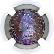 1883 Ms65 Bn Ngc Indian Head Penny Premium Quality Monster Toning