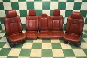 13and039 F150 Crew Limited Black Red Leather Heat And Cool Power Bucket Seats Backseat