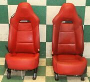 14-19 C7 Adrenaline Red Dual Power Heated Cooled Bucket Seats Power Tracks Oem
