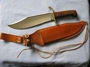 1965-66 Western Bowie Knife Model W49 And Sheath - Very Fine Condition