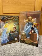 Disney Limited Edition Pinocchio And Blue Fairy Dolls D23 Designer Collection