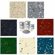 Supercoat Epoxy Flooring Kit With Resin Flakes Paint For Garage Floor Coating