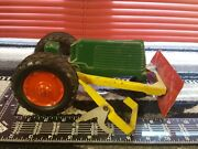 Oliver W/ Push Blade No Man Or Steering 1/16 Aluminum Farm Tractor By Silk