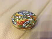Halcyon Days Enamel Trinket Box Designed By Andco- Merry Christmas 1996
