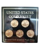 2007 United States Gold Vault 5 Solid Gold 5 American Eagle Coin Set