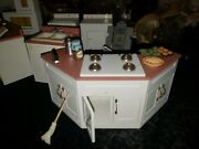 Doll House Handmade Full Kitchen Set Including Washer/drier